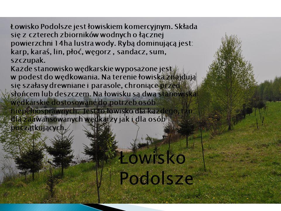 Łowisko Podolsze Łowisko Podolsze jest łowiskiem komercyjnym. Składa się z czterech zbiorników wodnych o łącznej powierzchni 14ha lustra wody. Rybą do