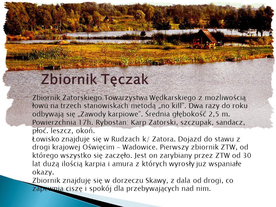 Łowisko Trzy Stawy Zbiornik Zatorskiego Towarzystwa Wędkarskiego.