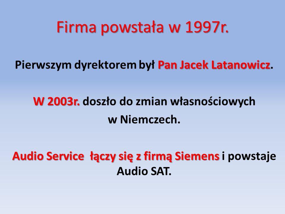 Firma powstała w 1997r.Pan Jacek Latanowicz Pierwszym dyrektorem był Pan Jacek Latanowicz.
