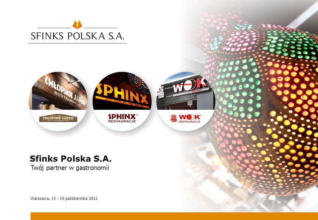Sfinks Polska S.A. Twój partner w gastronomii Warszawa, 13 - 15 października 2011