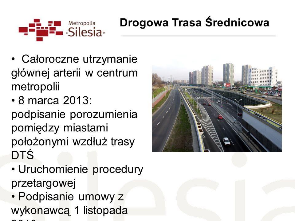 Drogowa Trasa Średnicowa Całoroczne utrzymanie głównej arterii w centrum metropolii 8 marca 2013: podpisanie porozumienia pomiędzy miastami położonymi