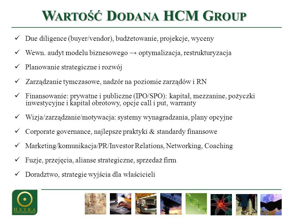 Due diligence (buyer/vendor), budżetowanie, projekcje, wyceny Wewn.