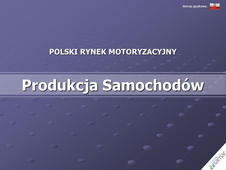 POLSKI RYNEK MOTORYZACYJNY Produkcja Samochodów Wersja językowa: