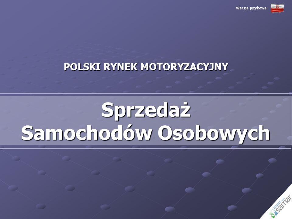 POLSKI RYNEK MOTORYZACYJNY Sprzedaż Samochodów Osobowych Wersja językowa: