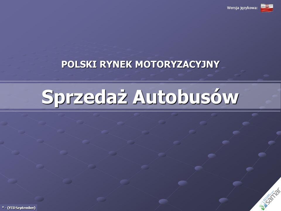 POLSKI RYNEK MOTORYZACYJNY Sprzedaż Autobusów * - (YTD September) Wersja językowa: