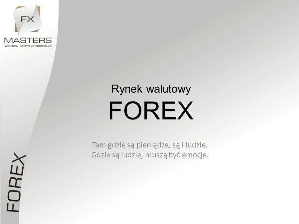 Rynek walutowy FOREX Tam gdzie są pieniądze, są i ludzie. Gdzie są ludzie, muszą być emocje.