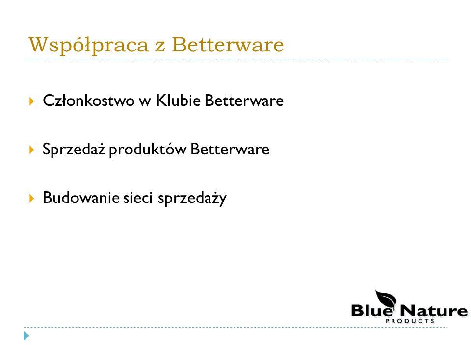 Współpraca z Betterware Członkostwo w Klubie Betterware Sprzedaż produktów Betterware Budowanie sieci sprzedaży