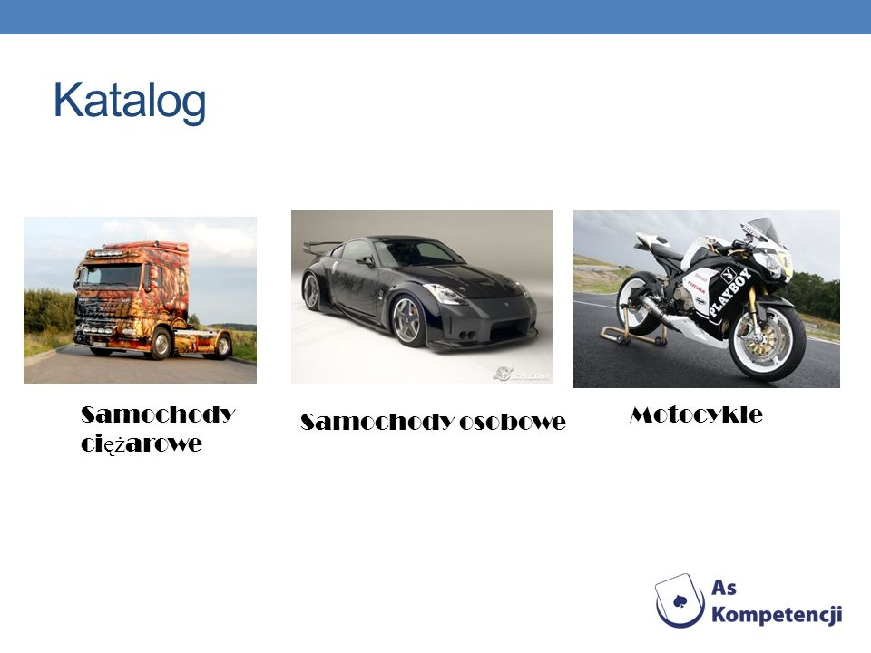 Katalog Samochody ci ęż arowe Samochody osobowe Motocykle