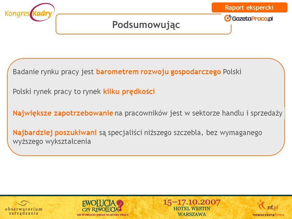 Polski rynek pracy to rynek kilku prędkości Największe zapotrzebowanie na pracowników jest w sektorze handlu i sprzedaży Najbardziej poszukiwani są sp