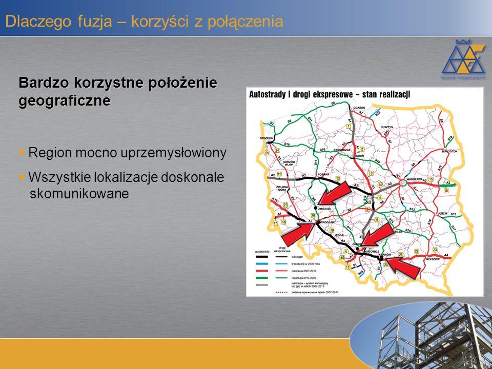 Czynniki zewnętrzne Napływ środków unijnych (inwestycje infrastrukturalne) Inwestycje w sektorze przemysłowym (wysokie wykorzystanie mocy produkcyjnych) Inwestycje związane z Euro 2012 Spółka z perspektywami