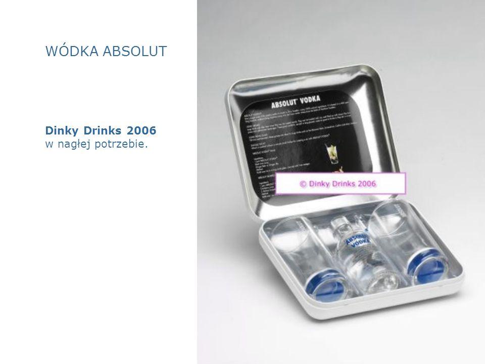 WÓDKA ABSOLUT Dinky Drinks 2006 w nagłej potrzebie.