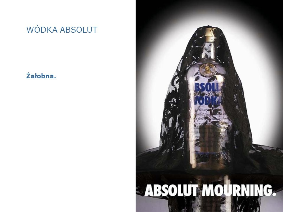 WÓDKA ABSOLUT Żałobna.