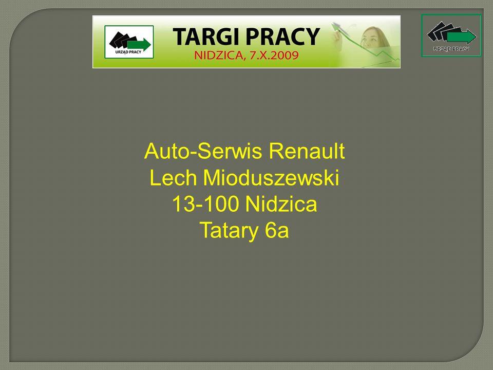 Auto-Serwis Renault Lech Mioduszewski 13-100 Nidzica Tatary 6a