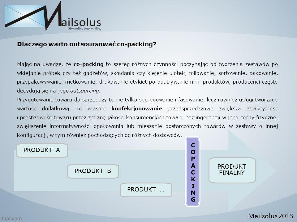 Dlaczego warto outsoursować co-packing? Mając na uwadze, że co-packing to szereg różnych czynności poczynając od tworzenia zestawów po wklejanie próbe