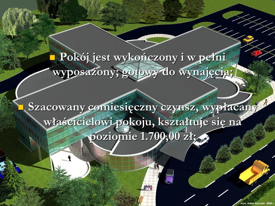 Pokój jest wykończony i w pełni wyposażony; gotowy do wynajęcia; Pokój jest wykończony i w pełni wyposażony; gotowy do wynajęcia; Szacowany comiesięczny czynsz, wypłacany właścicielowi pokoju, kształtuje się na poziomie 1.700,00 zł; Szacowany comiesięczny czynsz, wypłacany właścicielowi pokoju, kształtuje się na poziomie 1.700,00 zł;