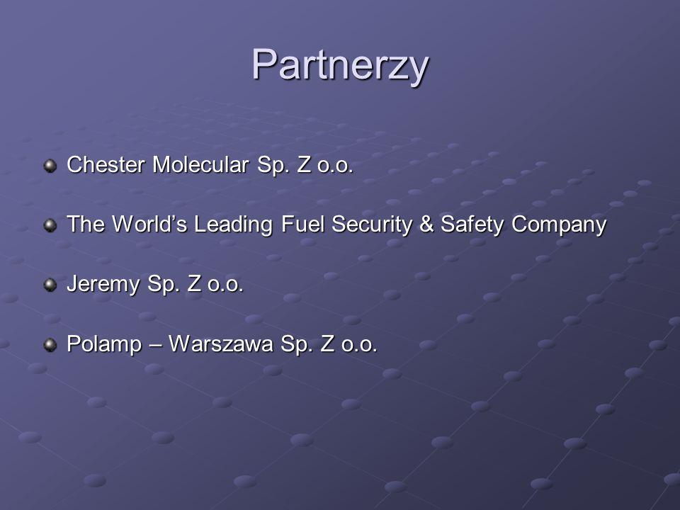 Partnerzy Chester Molecular Sp. Z o.o. The Worlds Leading Fuel Security & Safety Company Jeremy Sp. Z o.o. Polamp – Warszawa Sp. Z o.o.