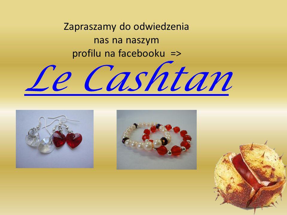 Zapraszamy do odwiedzenia nas na naszym profilu na facebooku => Le Cashtan
