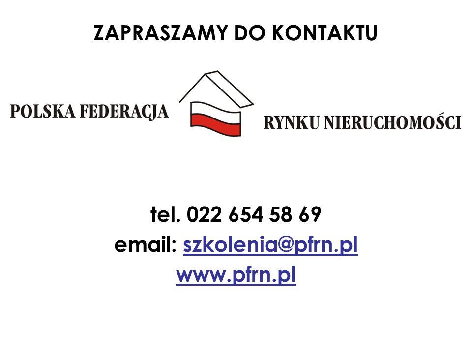 ZAPRASZAMY DO KONTAKTU tel. 022 654 58 69 email: szkolenia@pfrn.pl www.pfrn.pl