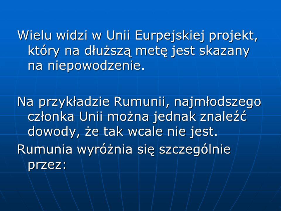 Wielu widzi w Unii Eurpejskiej projekt, który na dłuższą metę jest skazany na niepowodzenie.