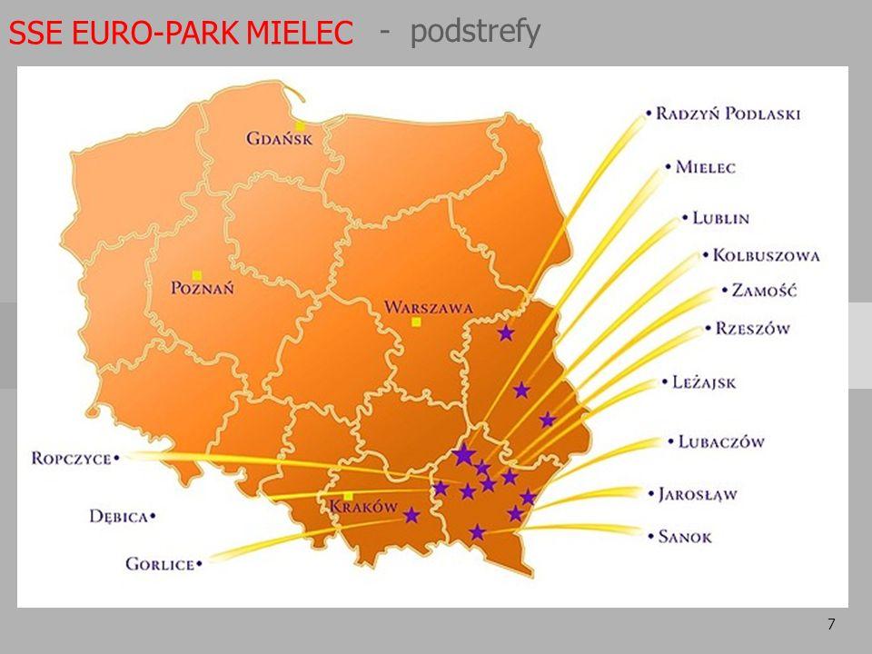 7 SSE EURO-PARK MIELEC - podstrefy