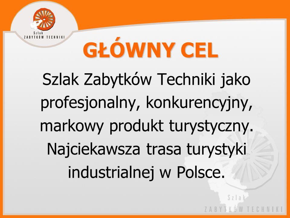GŁÓWNY CEL Szlak Zabytków Techniki jako profesjonalny, konkurencyjny, markowy produkt turystyczny.