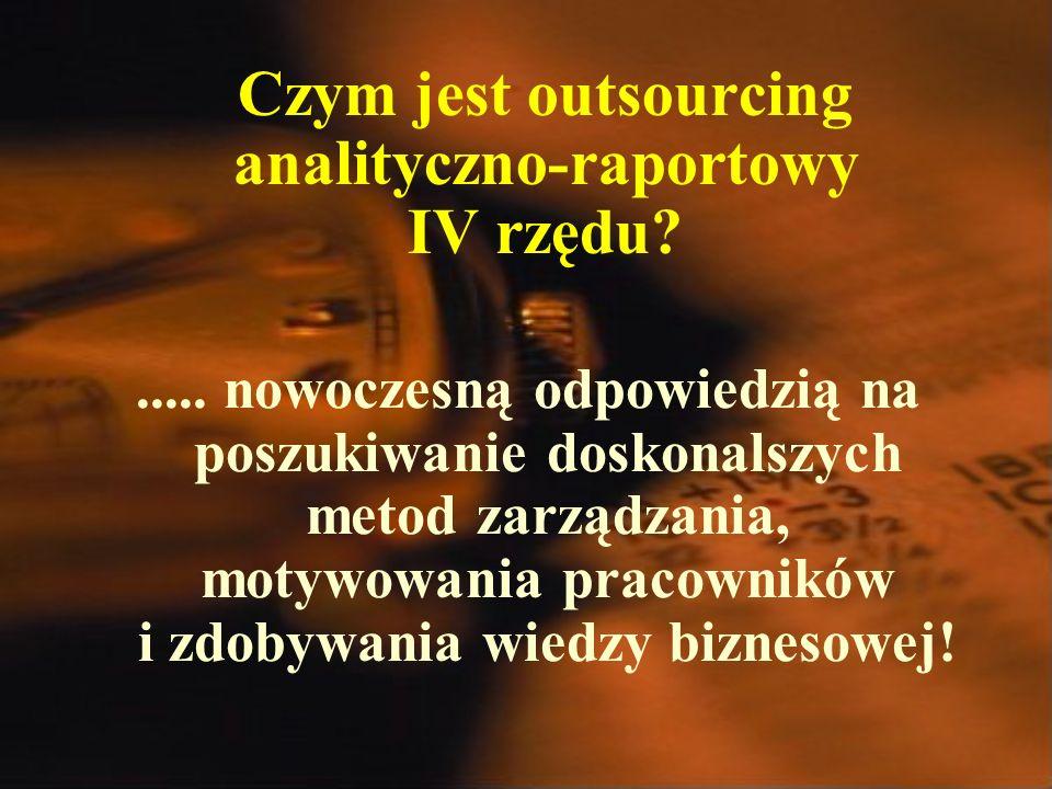 Czym jest outsourcing analityczno-raportowy IV rzędu .....
