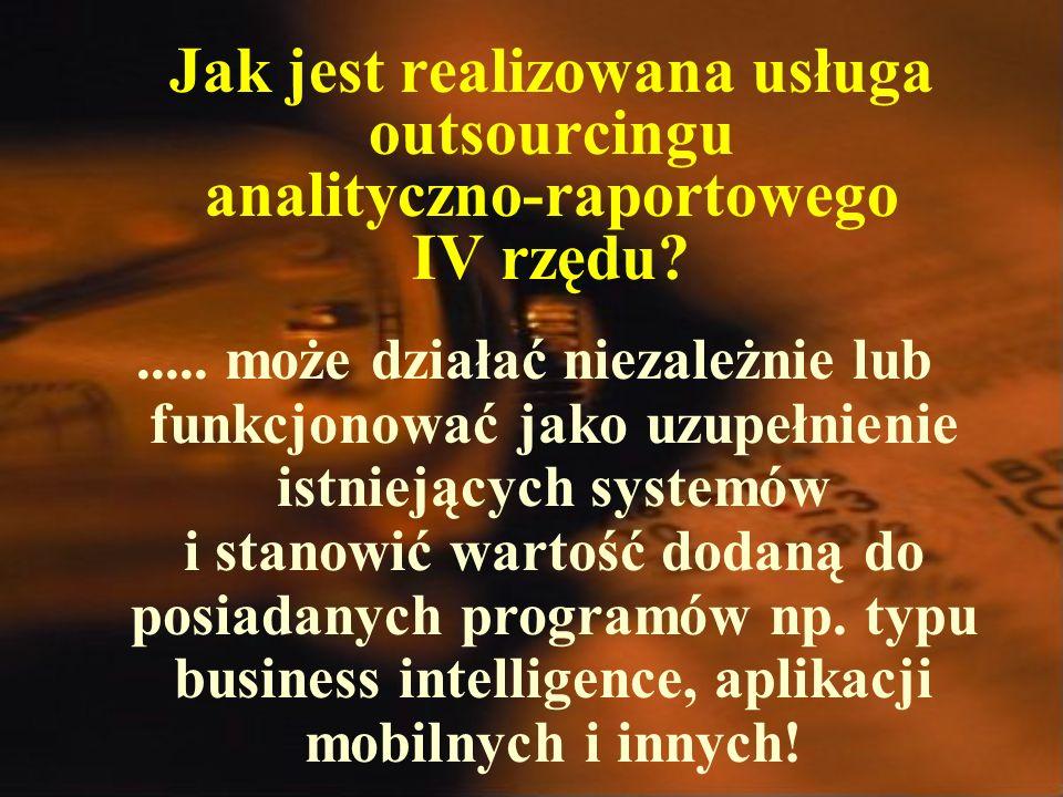 Jak jest realizowana usługa outsourcingu analityczno-raportowego IV rzędu?.....