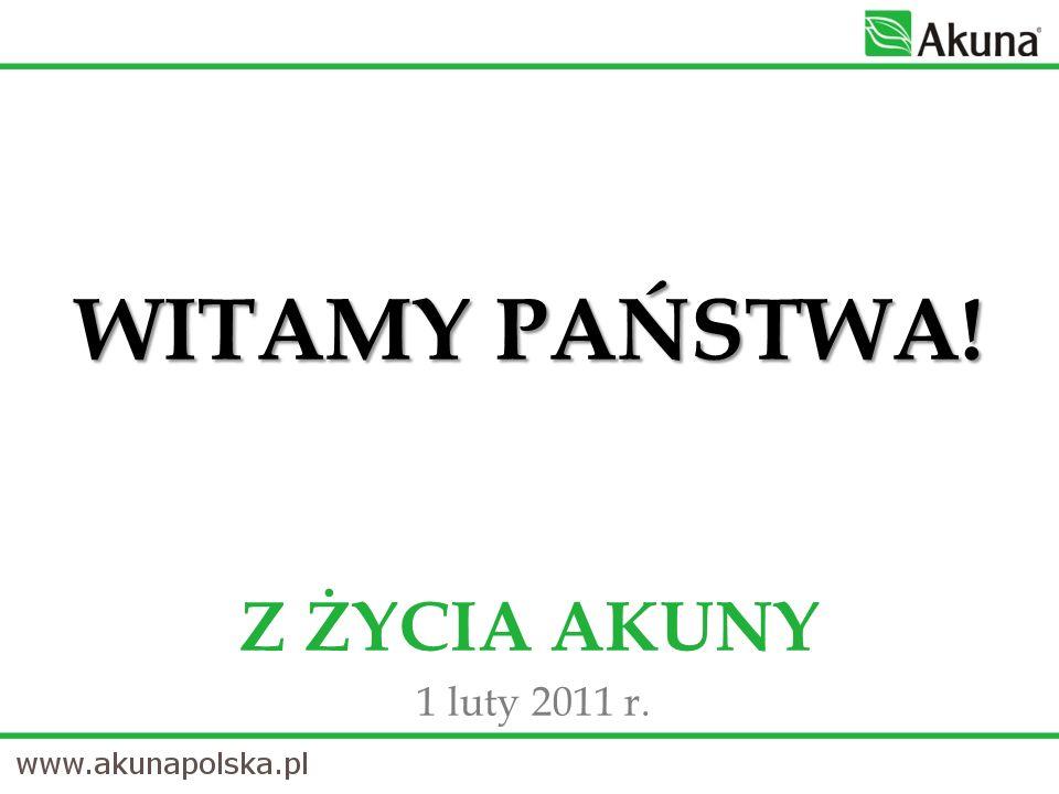 YOUR AKUNA DAY SPOTKANIE Szczegółowe informacje o spotkaniu już jutro na naszej stronie www.akuna.net - artykuły!www.akuna.net