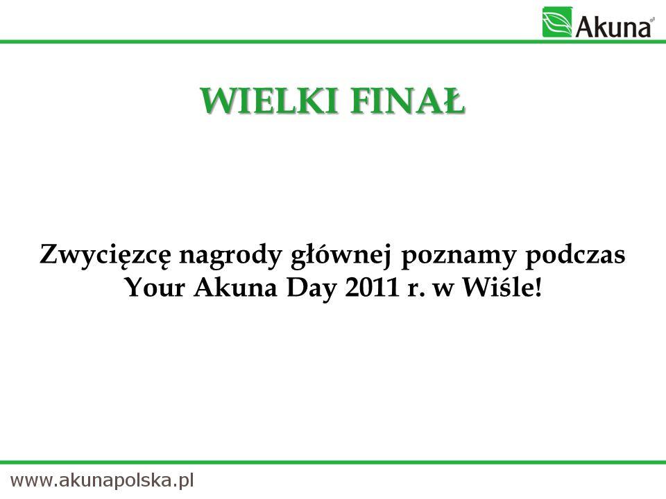 WIELKI FINAŁ Zwycięzcę nagrody głównej poznamy podczas Your Akuna Day 2011 r. w Wiśle!