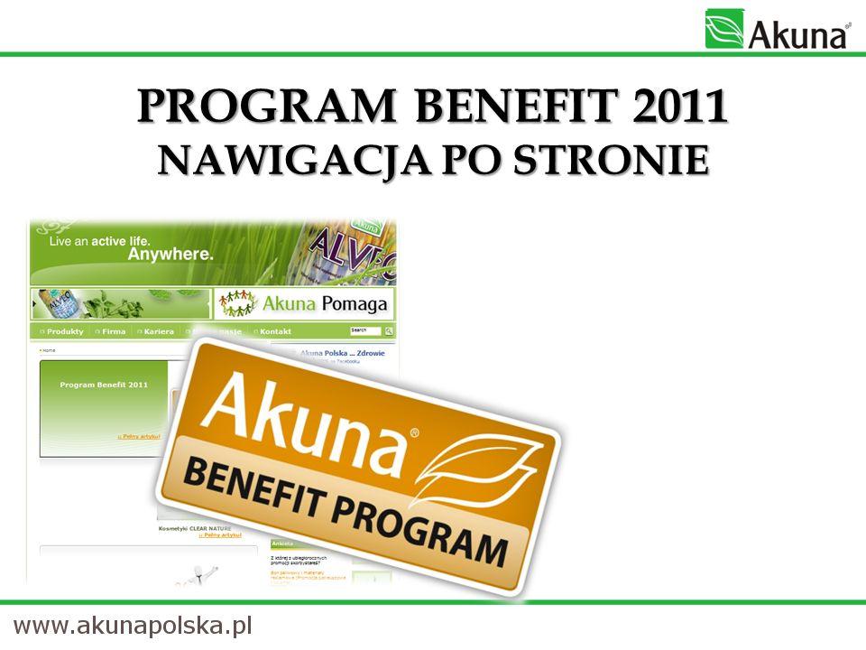 PROGRAM BENEFIT 2011 NAWIGACJA PO STRONIE