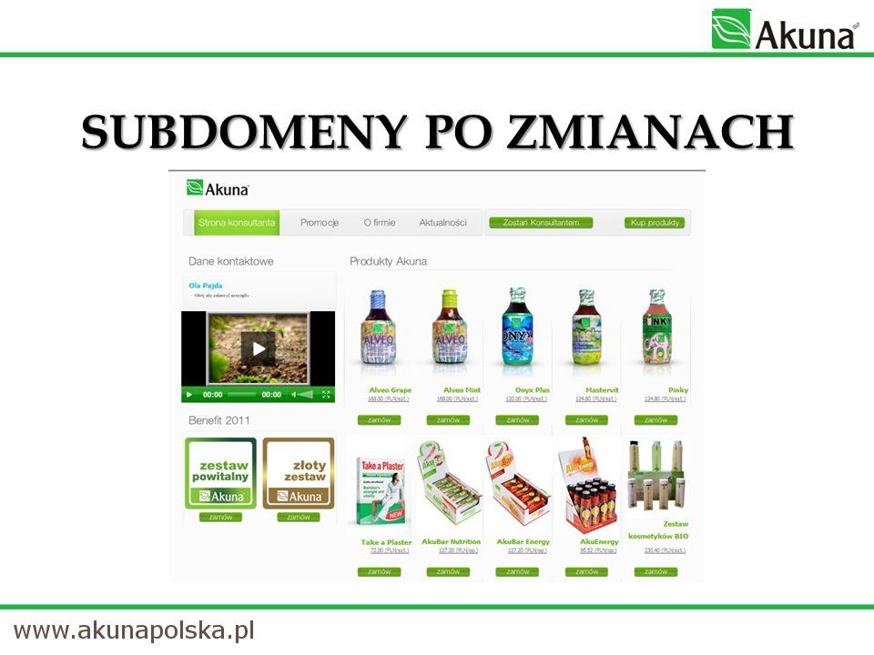 JAKIE ZMIANY.1. Od 1 stycznia 2011 r. korzystanie z subdomeny korporacyjnej jest bezpłatne.