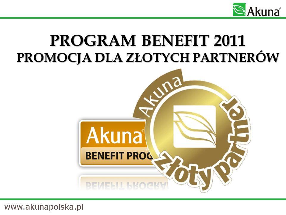 PROGRAM BENEFIT 2011 PROMOCJA DLA ZŁOTYCH PARTNERÓW