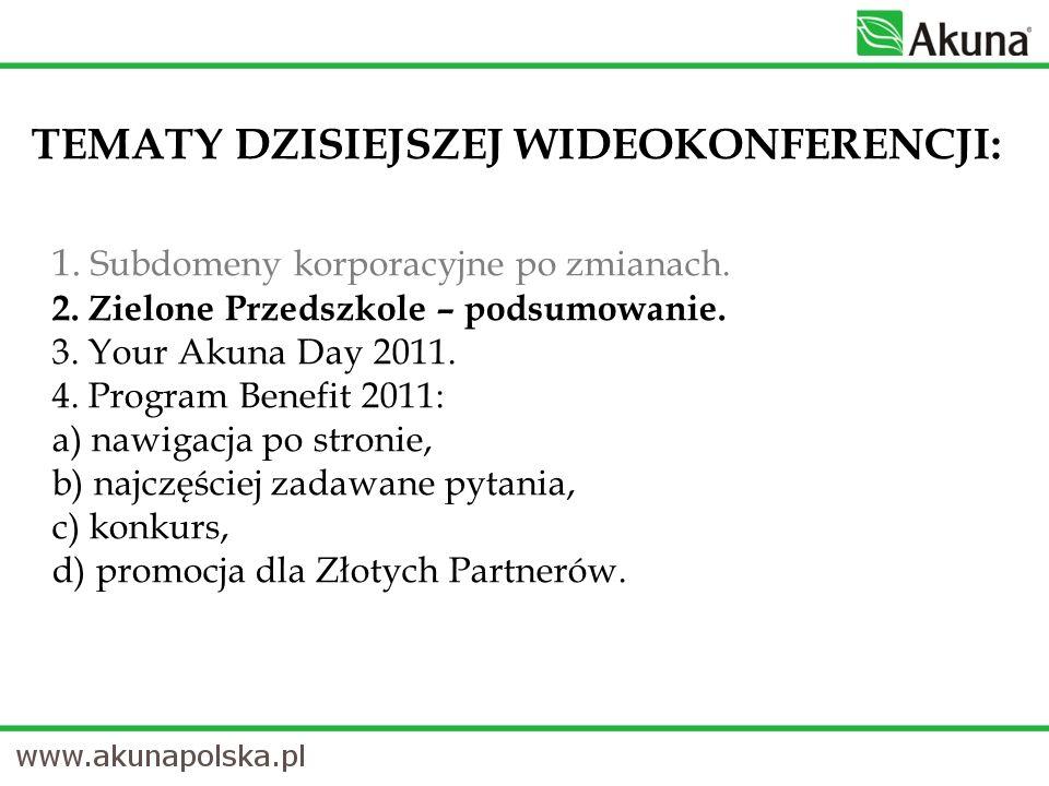 PROMOCJA Od 7 lutego 2011 r.do 28 lutego 2011 r. PROMOCJA dla wszystkich Złotych Partnerów Akuna.