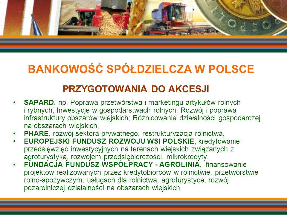 PRZYGOTOWANIA DO AKCESJI SAPARD, np. Poprawa przetwórstwa i marketingu artykułów rolnych i rybnych; Inwestycje w gospodarstwach rolnych; Rozwój i popr