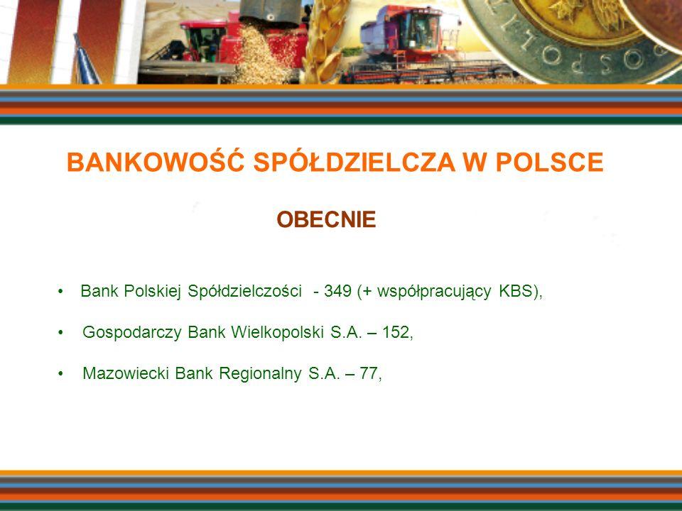 Bank Polskiej Spółdzielczości - 349 (+ współpracujący KBS), Gospodarczy Bank Wielkopolski S.A. – 152, Mazowiecki Bank Regionalny S.A. – 77, OBECNIE