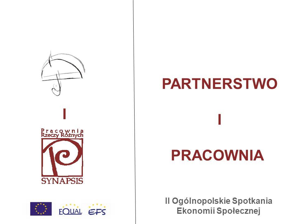 PARTNERSTWO I PRACOWNIA I II Ogólnopolskie Spotkania Ekonomii Społecznej