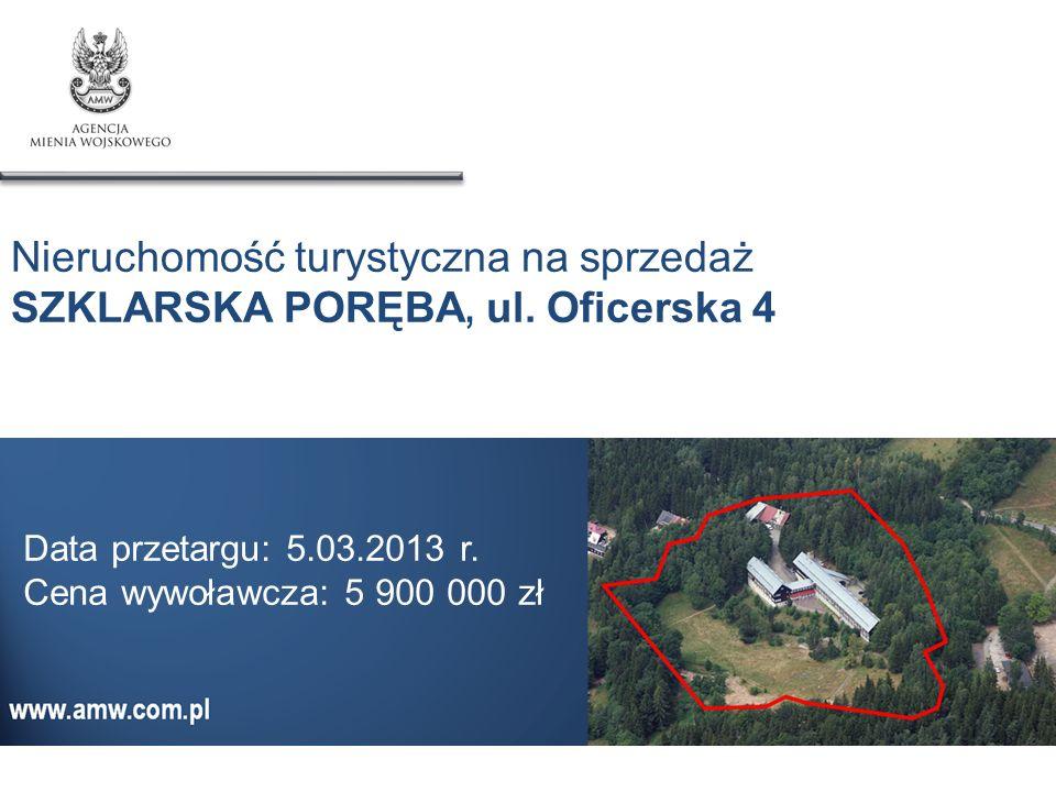 Nieruchomość turystyczna na sprzedaż SZKLARSKA PORĘBA, ul. Oficerska 4 Data przetargu: 5.03.2013 r. Cena wywoławcza: 5 900 000 zł