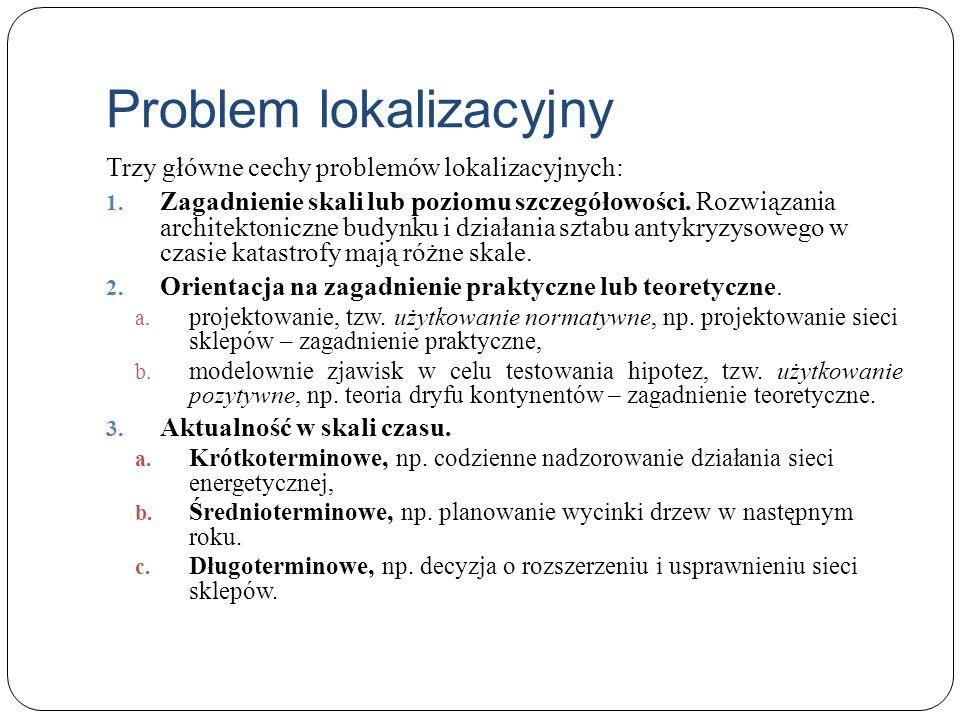 Problem lokalizacyjny Trzy główne cechy problemów lokalizacyjnych: 1. Zagadnienie skali lub poziomu szczegółowości. Rozwiązania architektoniczne budyn