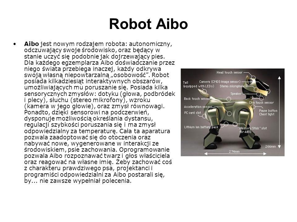 Robot Aibo To, że Aibo potrafi odróżniać twarz właściciela od innych, wiąże się z wyposażeniem go w swego rodzaju narząd wzroku.