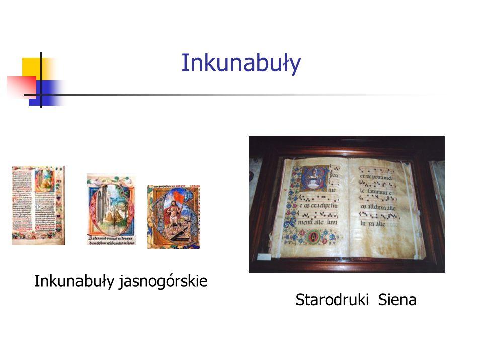 Inkunabuły Inkunabuły jasnogórskie Starodruki Siena