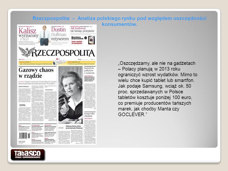 Oszczędzamy, ale nie na gadżetach – Polacy planują w 2013 roku ograniczyć wzrost wydatków.
