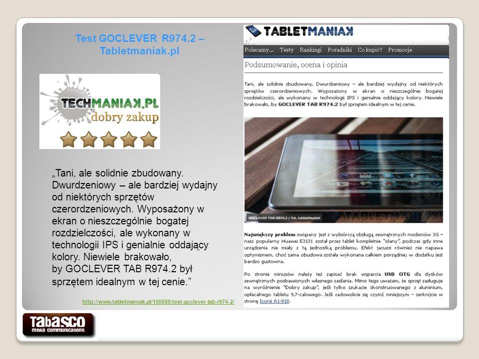 Test GOCLEVER R974.2 – Tabletmaniak.pl Tani, ale solidnie zbudowany.