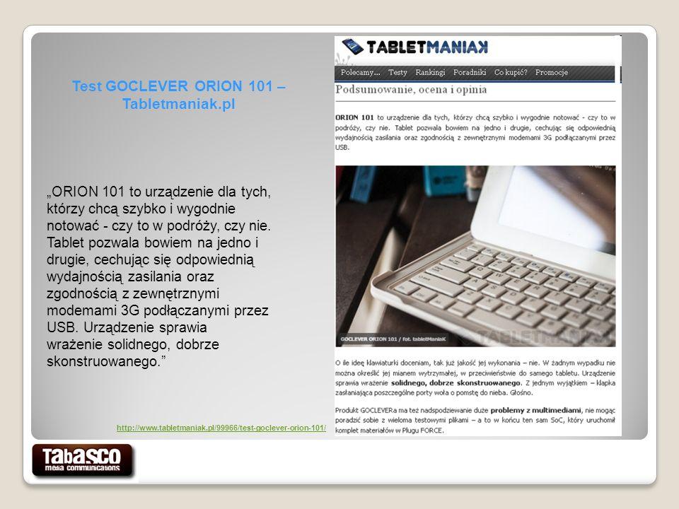 Test GOCLEVER ORION 101 – Tabletmaniak.pl ORION 101 to urządzenie dla tych, którzy chcą szybko i wygodnie notować - czy to w podróży, czy nie.