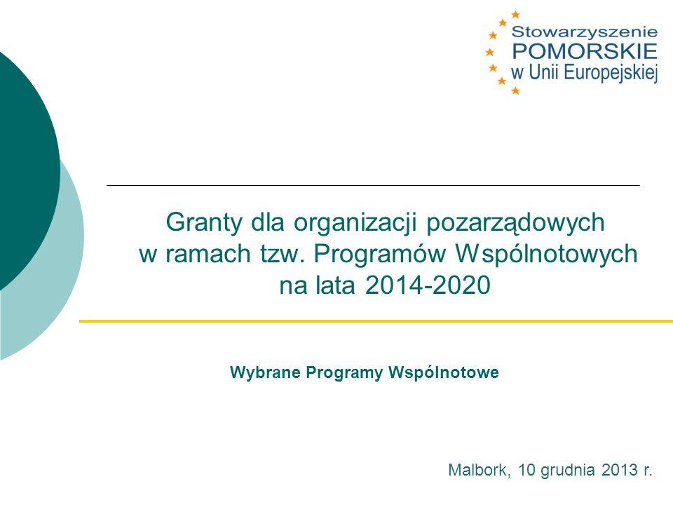 Granty dla organizacji pozarządowych w ramach tzw.