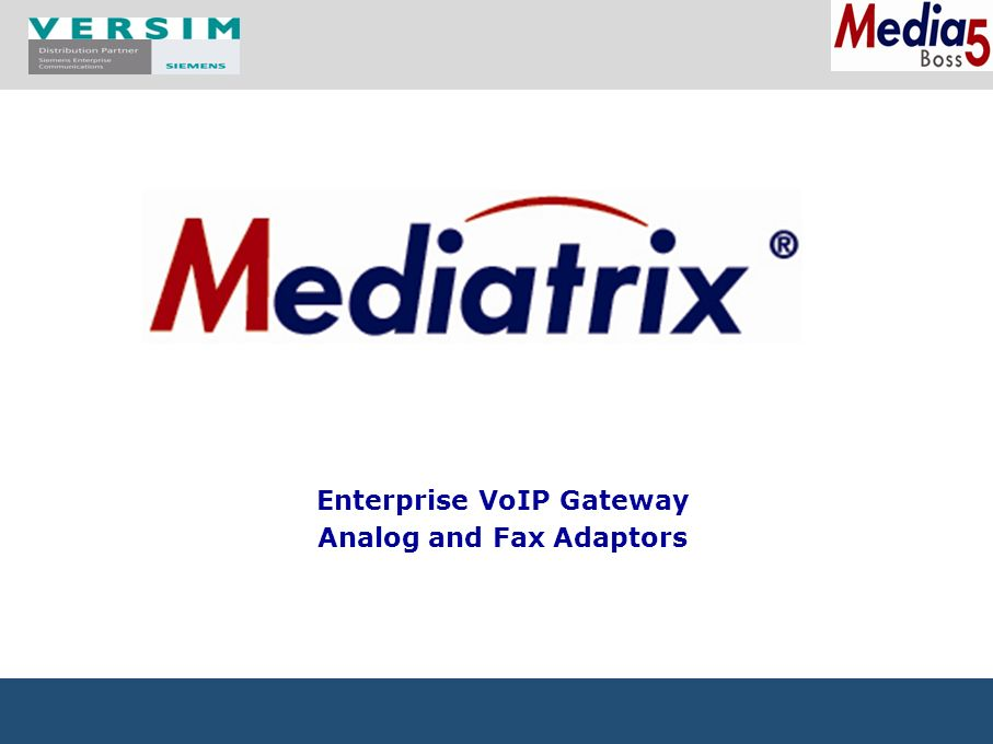 coM.sat product portfolio 2009 1 Enterprise VoIP Gateway Analog and Fax Adaptors