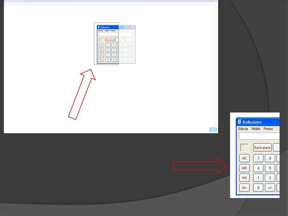 Również jest możliwość zrobienia zrzutu ekranu określonego obszaru. Do tego zadania wykorzsytujemy polecenie Wycinek Ekranu(Screen Clipping):