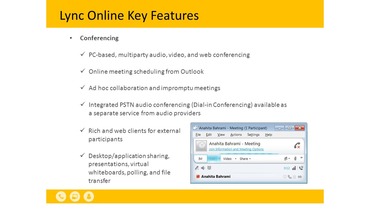 Interoperability with Carrier Services 2/2 Two available connectivity options for enabling EV SIP trunking carrier from the list approved for Lync Online dedicated plan customers.
