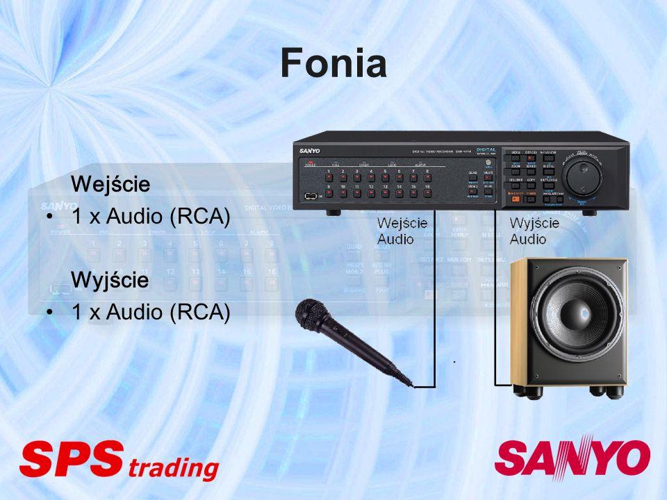 Fonia Wejście 1 x Audio (RCA) Wyjście 1 x Audio (RCA)