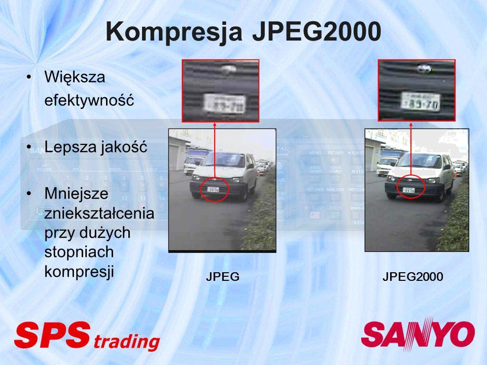 Kompresja JPEG2000 Większa efektywność Lepsza jakość Mniejsze zniekształcenia przy dużych stopniach kompresji JPEG JPEG2000