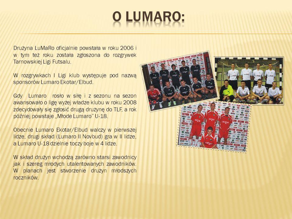 Drużyna LuMaRo oficjalnie powstała w roku 2006 i w tym też roku została zgłoszona do rozgrywek Tarnowskiej Ligi Futsalu.